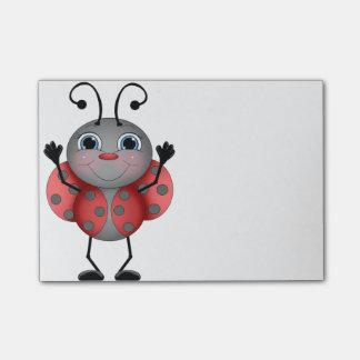 Happy Ladybug red black Post-it® Notes