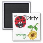 Happy Ladybug & Sunflower - Dishwash Magnet