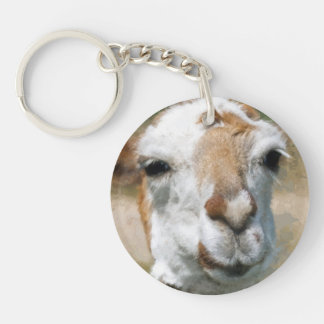 Happy Lama, Painting Effect Keychain