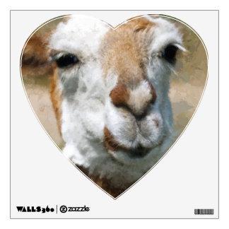Happy Lama, Painting Effect Wall Sticker