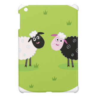 Happy lambs family : art illustration cover for the iPad mini