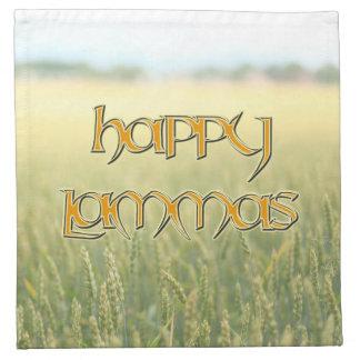 Happy Lammas Cocktail Napkins (Cloth)