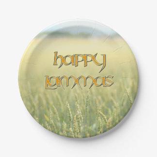 Happy Lammas Paper Party Plate