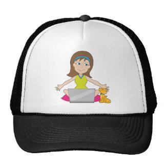 Happy Laptop Lady Trucker Hat