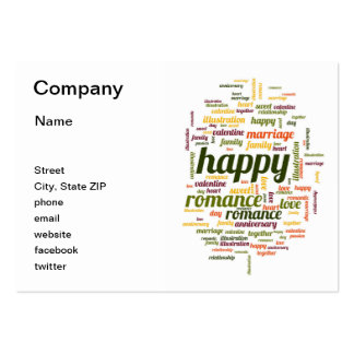 Happy Large Business Cards (Pack Of 100)