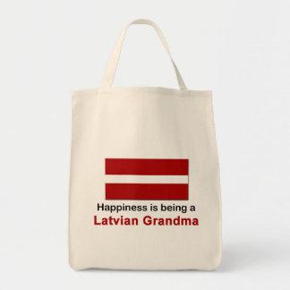 Happy Latvian Grandma Canvas Bag