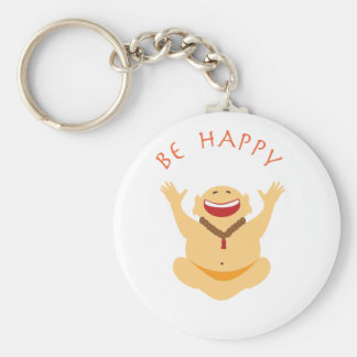 Happy Laughing Buddha Keychain