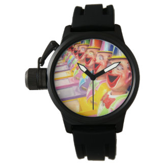 Happy Laughing Clown Faces, Wrist Watch
