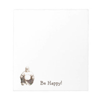 Happy laughing good luck Buddha Notepad
