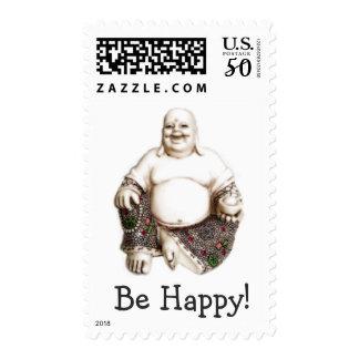 Happy laughing joyful good luck Buddha Postage