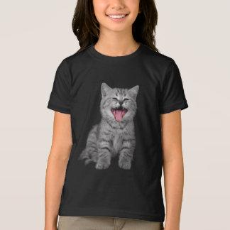 Happy Laughing Kitten Cat T-Shirt
