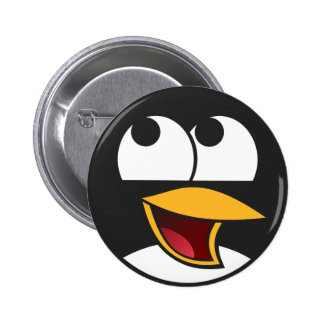 Happy Laughing Penguin Button