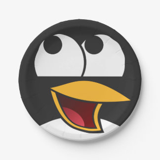 Happy Laughing Penguin Paper Plates