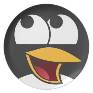 Happy Laughing Penguin Plate