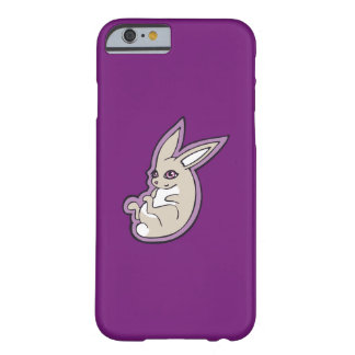 Happy Lavender Rabbit Pink Eyes Ink Drawing Design Barely There iPhone 6 Case