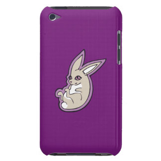 Happy Lavender Rabbit Pink Eyes Ink Drawing Design Barely There iPod Cover