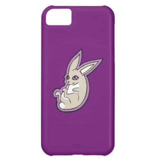 Happy Lavender Rabbit Pink Eyes Ink Drawing Design Case For iPhone 5C