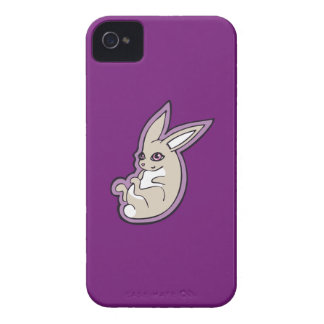 Happy Lavender Rabbit Pink Eyes Ink Drawing Design Case-Mate iPhone 4 Case
