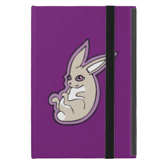 Happy Lavender Rabbit Pink Eyes Ink Drawing Design Covers For iPad Mini