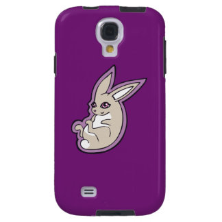Happy Lavender Rabbit Pink Eyes Ink Drawing Design Galaxy S4 Case