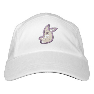 Happy Lavender Rabbit Pink Eyes Ink Drawing Design Hat