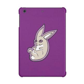 Happy Lavender Rabbit Pink Eyes Ink Drawing Design iPad Mini Covers