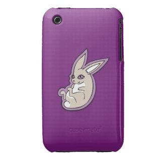 Happy Lavender Rabbit Pink Eyes Ink Drawing Design iPhone 3 Case-Mate Case