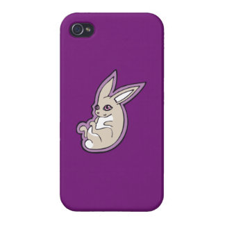Happy Lavender Rabbit Pink Eyes Ink Drawing Design iPhone 4/4S Cover