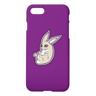 Happy Lavender Rabbit Pink Eyes Ink Drawing Design iPhone 7 Case