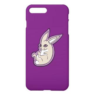 Happy Lavender Rabbit Pink Eyes Ink Drawing Design iPhone 7 Plus Case