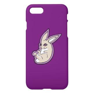 Happy Lavender Rabbit Pink Eyes Ink Drawing Design iPhone 8/7 Case