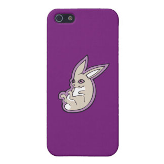 Happy Lavender Rabbit Pink Eyes Ink Drawing Design iPhone SE/5/5s Cover
