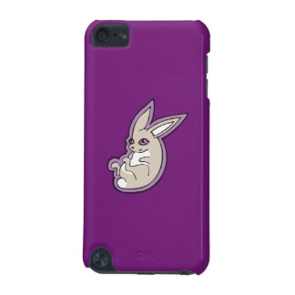 Happy Lavender Rabbit Pink Eyes Ink Drawing Design iPod Touch 5G Case