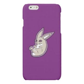 Happy Lavender Rabbit Pink Eyes Ink Drawing Design Matte iPhone 6 Case