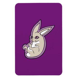 Happy Lavender Rabbit Pink Eyes Ink Drawing Design Rectangular Photo Magnet