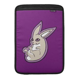 Happy Lavender Rabbit Pink Eyes Ink Drawing Design Sleeve For MacBook Air