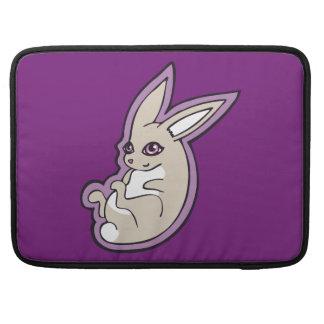 Happy Lavender Rabbit Pink Eyes Ink Drawing Design Sleeve For MacBook Pro