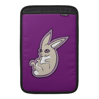 Happy Lavender Rabbit Pink Eyes Ink Drawing Design Sleeves For MacBook Air