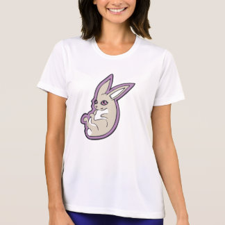 Happy Lavender Rabbit Pink Eyes Ink Drawing Design T-Shirt
