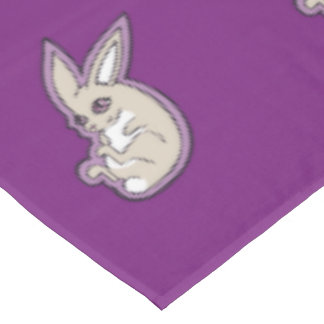 Happy Lavender Rabbit Pink Eyes Ink Drawing Design Tablecloth