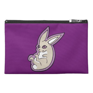 Happy Lavender Rabbit Pink Eyes Ink Drawing Design Travel Accessory Bags