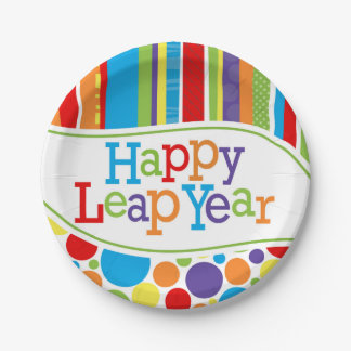 Happy Leap Year 7'' Dessert Plate