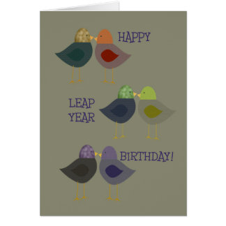 Happy Leap Year Birthday, Chatter Birds Card