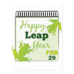 Happy Leap Year Feb 29 Postcard