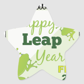 Happy Leap Year Feb 29 Star Sticker