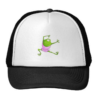Happy Leaping Ballet Frog Hat