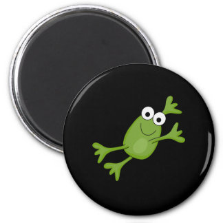 happy leaping frog 2 inch round magnet