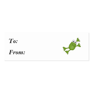 happy leaping frog mini business card