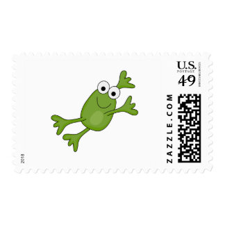 happy leaping frog postage