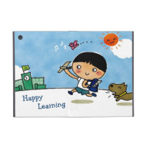 Happy Learning Boy Heading to School with Puppy Case For iPad Mini